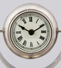 Silver Glass & Stainless Steel 6 x 4 x 7 Inch Table Clock by The Yellow Door