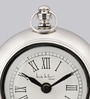 Silver Iron 5 x 3 x 7 Inch Desk Clock by The Yellow Door