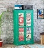 Daft Medium 2 Door Wardrobe in Jade Green Finish by Bohemiana