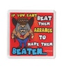 Multicolour Plastic & Paper Beat Them Fridge Magnet by Thoughtroad