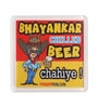 Multicolour Plastic & Paper Bhayankar Chilled Beer Fridge Magnet by Thoughtroad