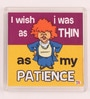 Multicolour Plastic & Paper I Wish I Was Thin Fridge Magnet by Thoughtroad