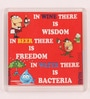 Red Plastic & Paper In Wine There Is Wisdom Fridge Magnet by Thoughtroad