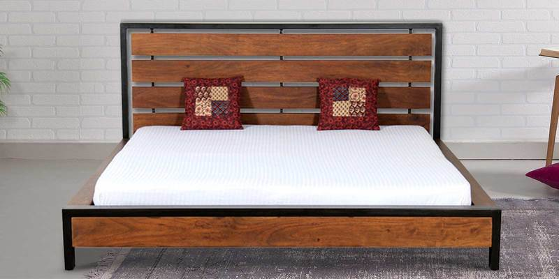 Tiber Solidwood King Bed in Premium Acacia Finish by Woodsworth