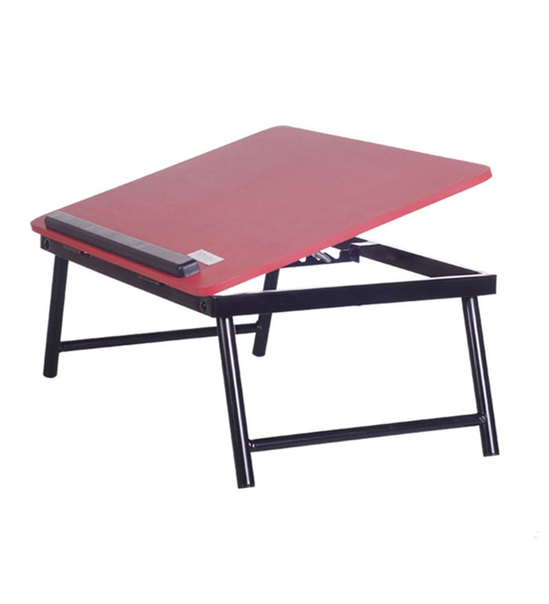 Tidyhomz Adige Steel Red Laptop Table
