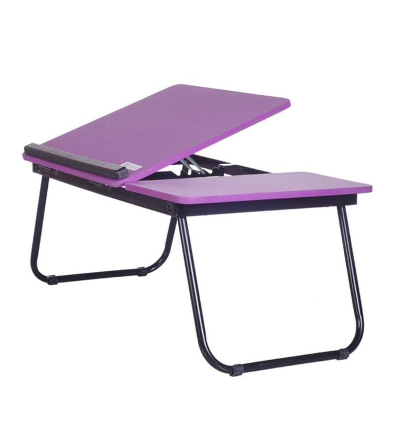 Tidyhomz Brisbane Steel Purple Laptop Table