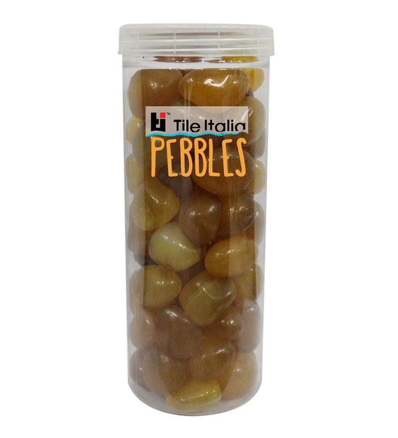 Onyx Yellow 1kg Pebbles by Tile Italia Pebbles