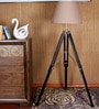 Kapoor E Illuminations Wood & Steel Tripod Lamp
