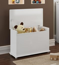 210 Options In Kids Furniture. McHannah Toy Storage Trunk In White ...