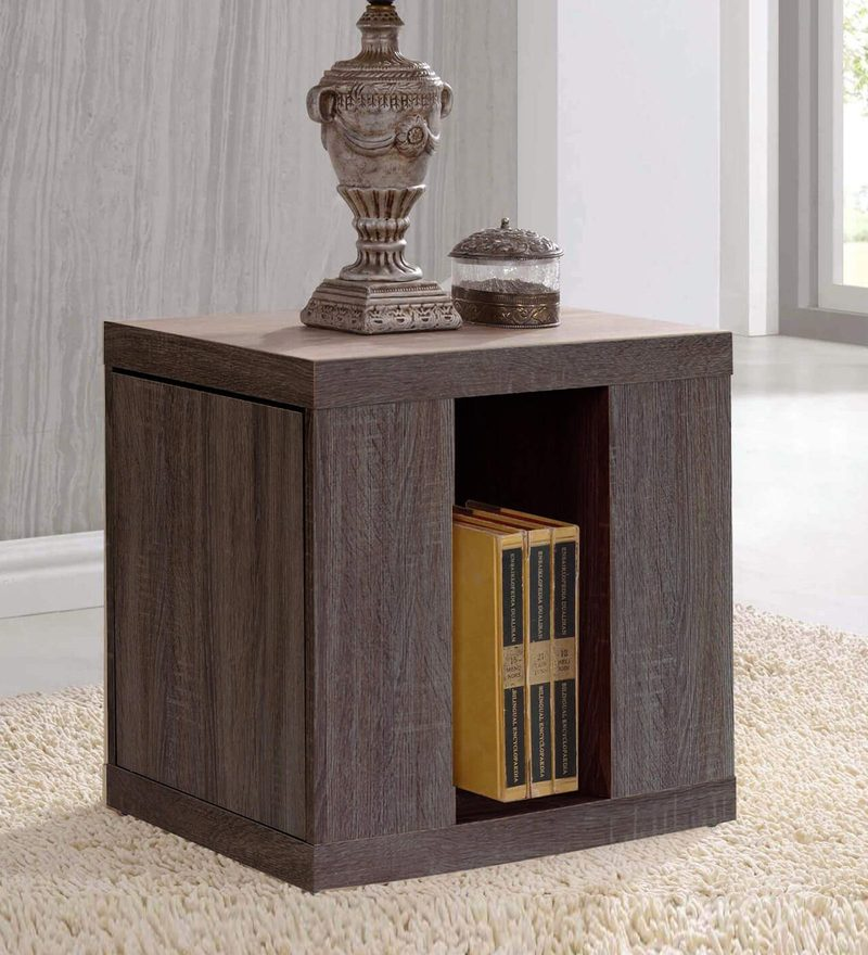 Tomoko Bed Side Table in Dark Sonoma Oak Finish by Mintwud