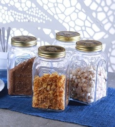 Transparent Homemade Jar With Metal Cover 1.5 L - Set Of 4