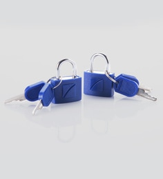 Travel Blue Brass & Abs Blue Padlocks - Set Of 2