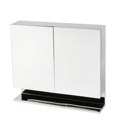 Trendy Double Door Stainless Steel Bathroom Cabinet