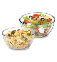Treo Borosilicate Glass Microwave Safe Mixing Bowls - Set Of 2 - 1662574