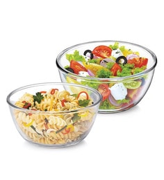 Treo Borosilicate Glass Microwave Safe Mixing Bowls - Set Of 2 - 1662570