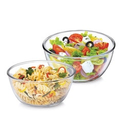 Treo New Gereration Glass Microwave Safe Mixing Bowls - Set Of 2