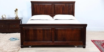 Trafford Queen Bed With Drawer Storage In Warm Rich Finish
