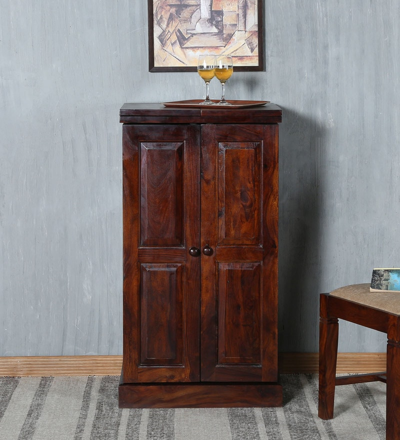 Trafford Bar Cabinet in Warm Rich Finish by Amberville