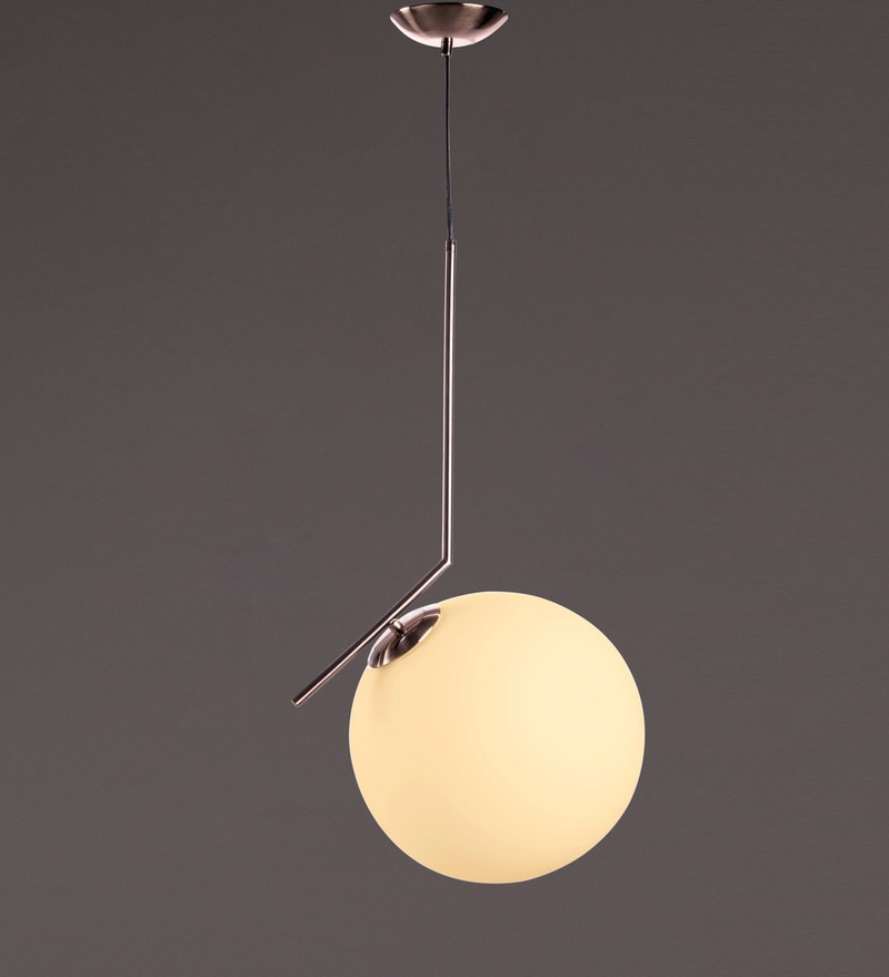 Transparent Metal and Glass Pendant by Voylite