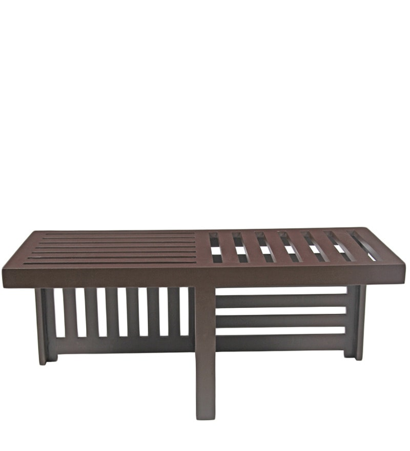 Buy trendy coffee table with two red cushioned stools by for Trendy coffee tables