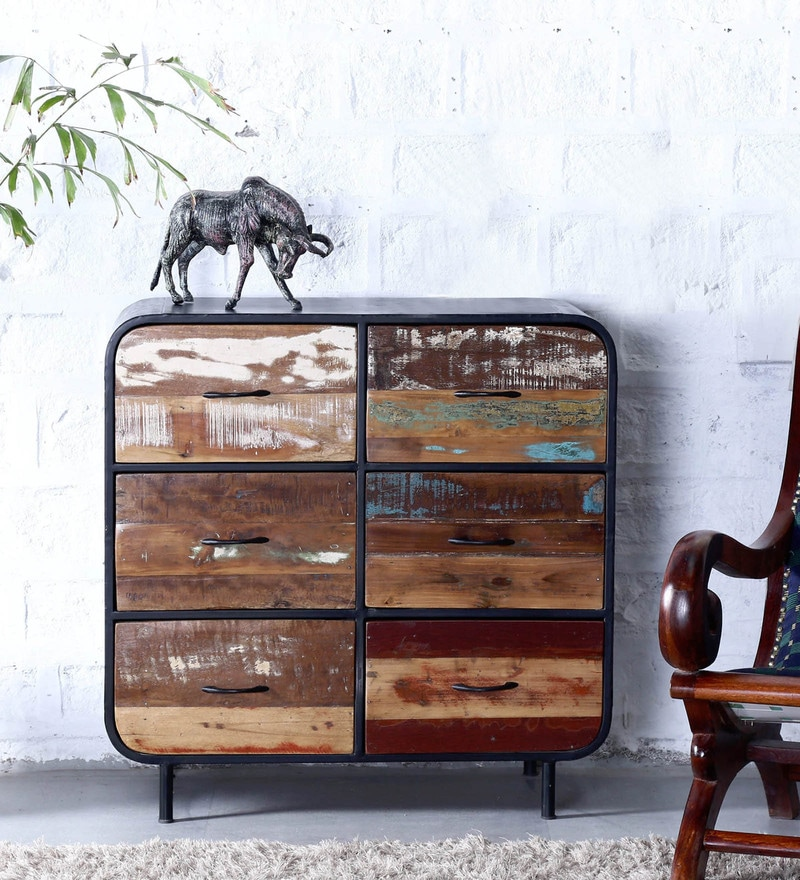 Trenton Chest of Drawers in Natural Finish by Bohemiana