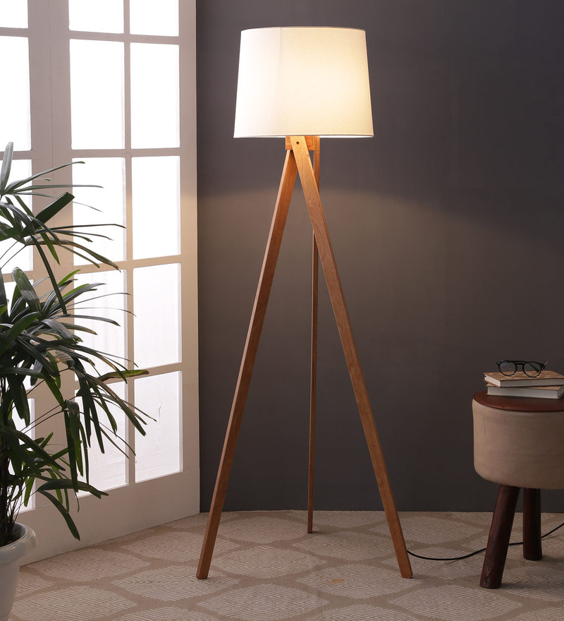 Buy Cagayan Tripod Lamp in White color by CasaCraft Online