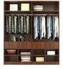Troy Four Door Wardrobe in Asian Classic Plank Walnut Finish by Primorati