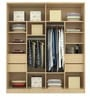 Troy Four Door Wardrobe in Asian Maple Finish by Primorati