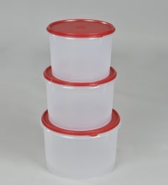Tupperware Super Storer Set Of 3 Canisters