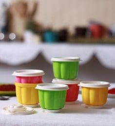 Tupperware Jelly Multicolour 150 ML Cups - Set Of 6