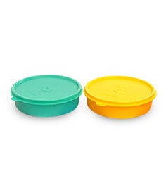 Tupperware Large Handy Multicolour 500 Ml (Each) Bowl With Lid - Set Of 2