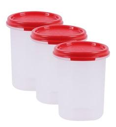 Tupperware Modular Mate Round Plastic Airtight Container, 440 ML, ...