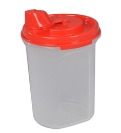 Tupperware Mini Magic Oil Flow Red 440 ML Oil Dispenser - Set Of 2