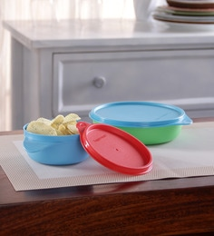 Tupperware Twinkle Multicolour Plastic Lunch Bowl - Set of 2 ...