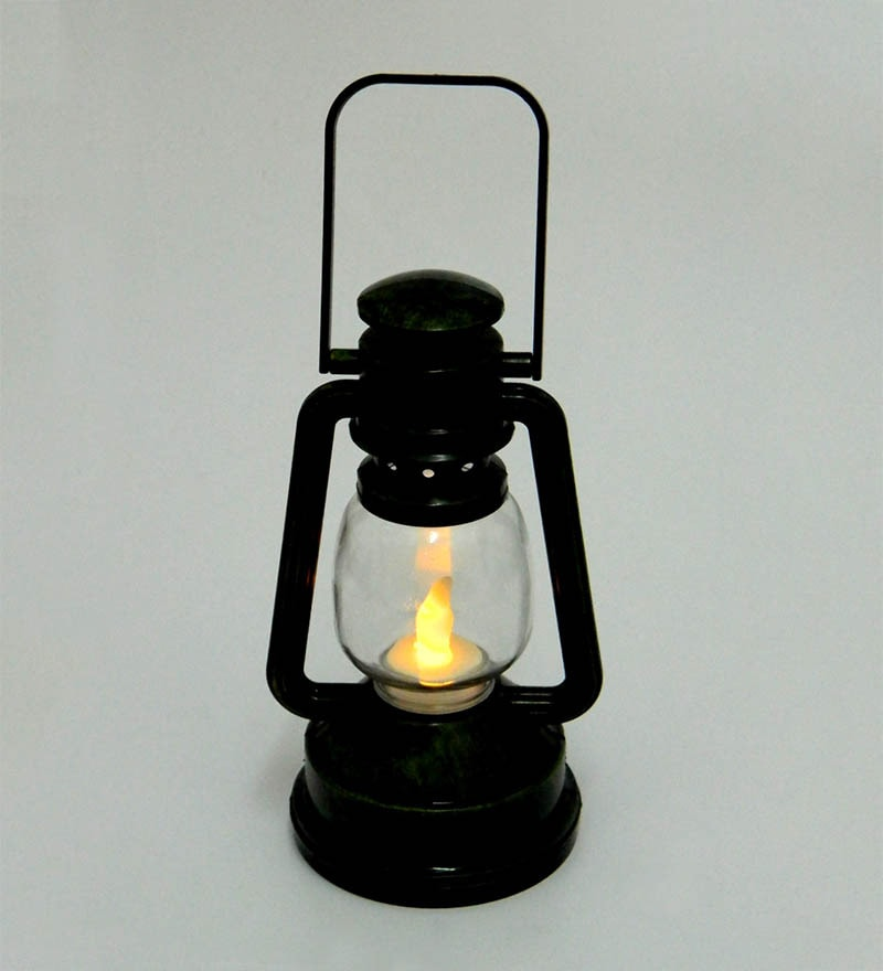 Tu Casa Black LED Lantern