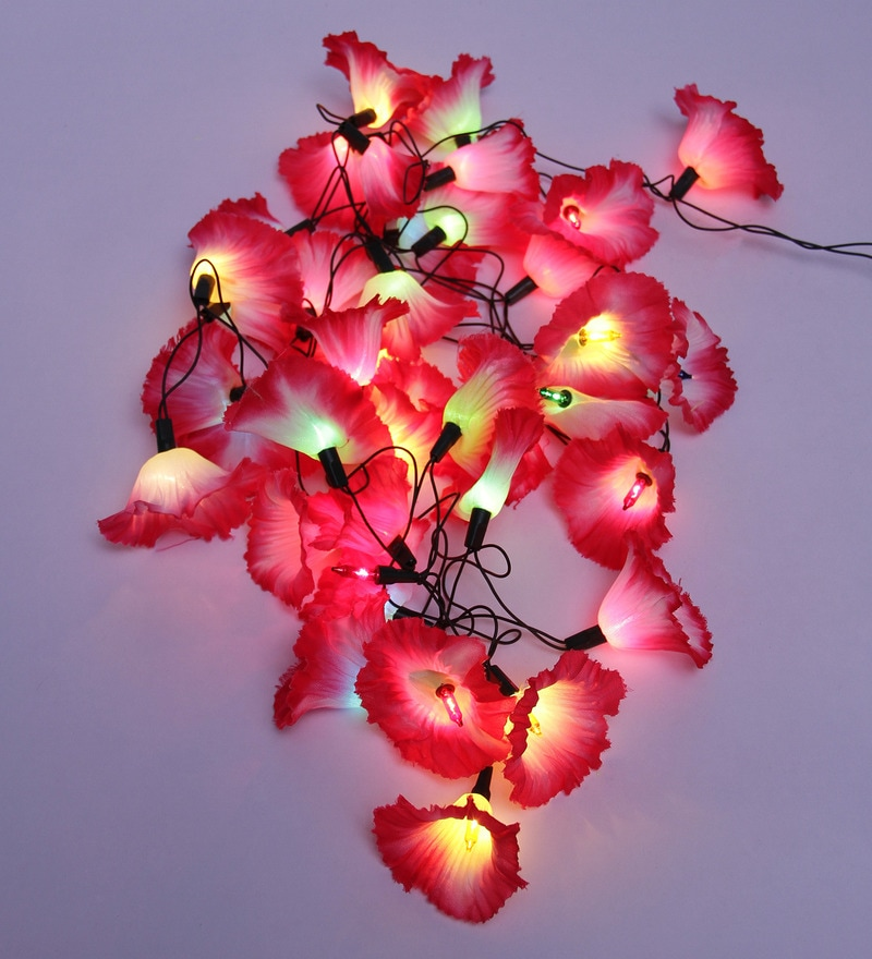 Multicolour Plastic Flower String Light by Tu Casa