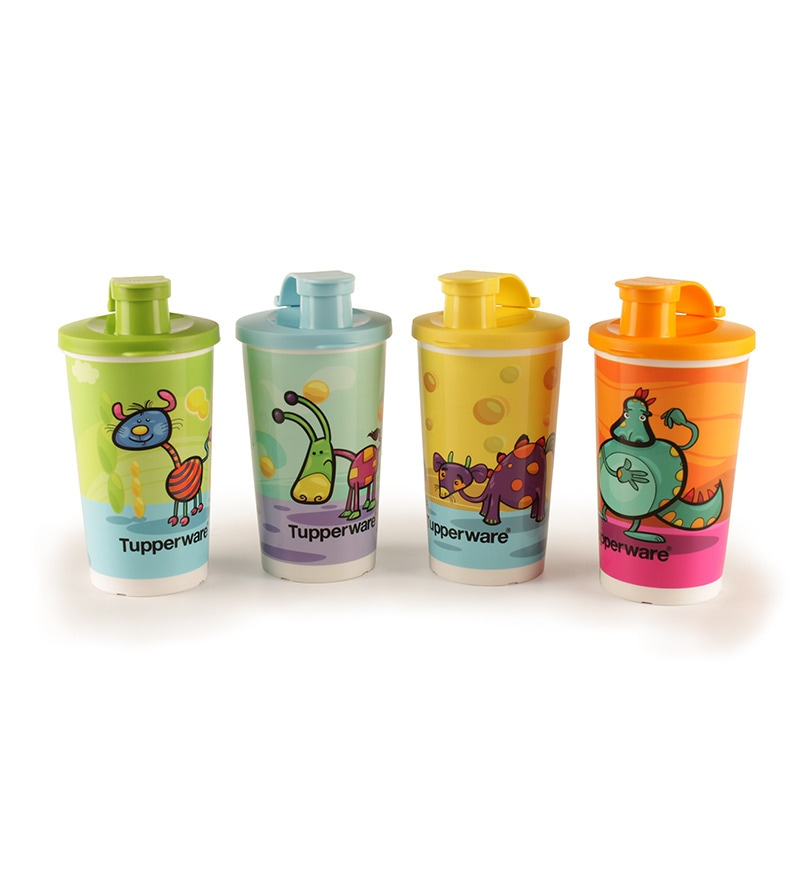 Tupperware Cartoon Sipper - Set of 4