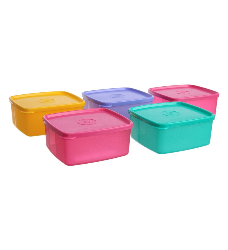 Tupperware Cool n Fresh Multicolour Plastic 500 ML Refrigerator Container - Set of 5