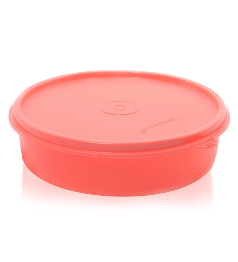 Tupperware Large Handy Red Plastic Round 500 ML Bowl - Set of 4