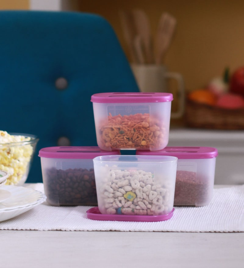 Tupperware Rectangle 320 Ml Each Container - Set of 4