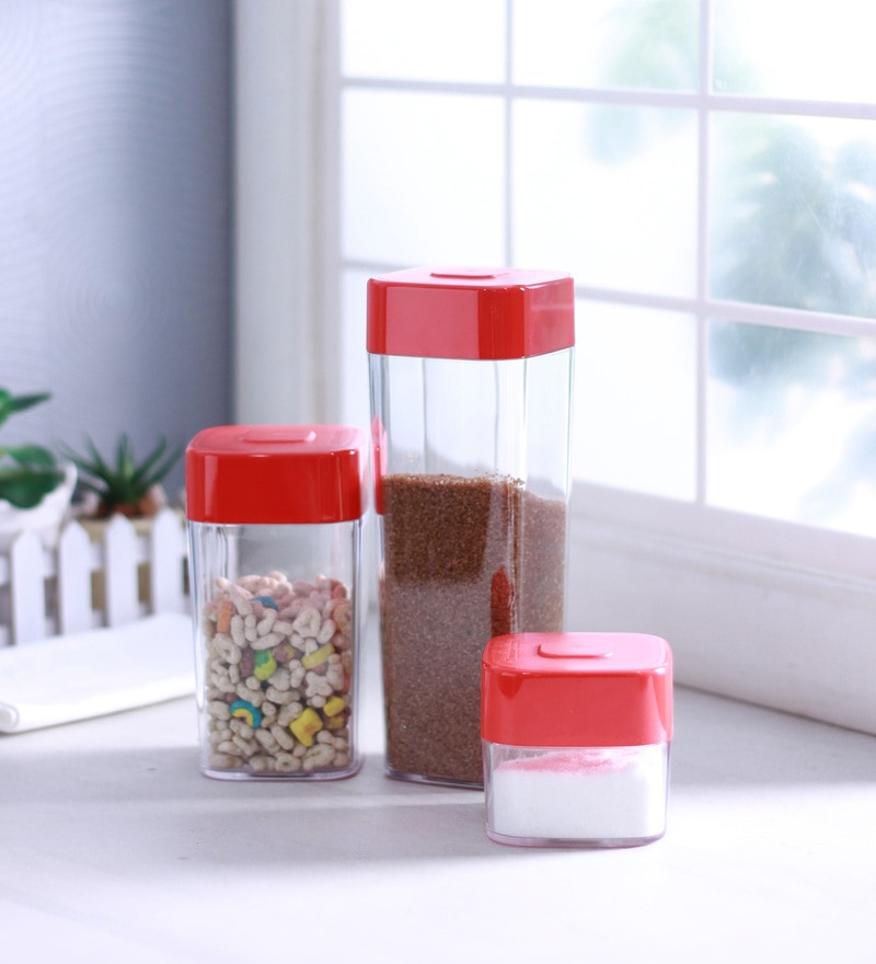Tupperware Rectangle Shelf Saver Airtight Container - Set of 3