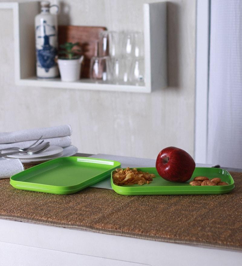 Tupperware Rectangle Trays Set Of 2