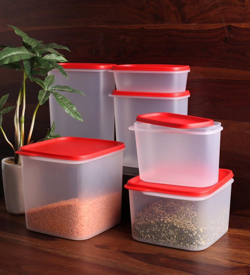 Tupperware Red Assorted Airtight Storage - Set of 12