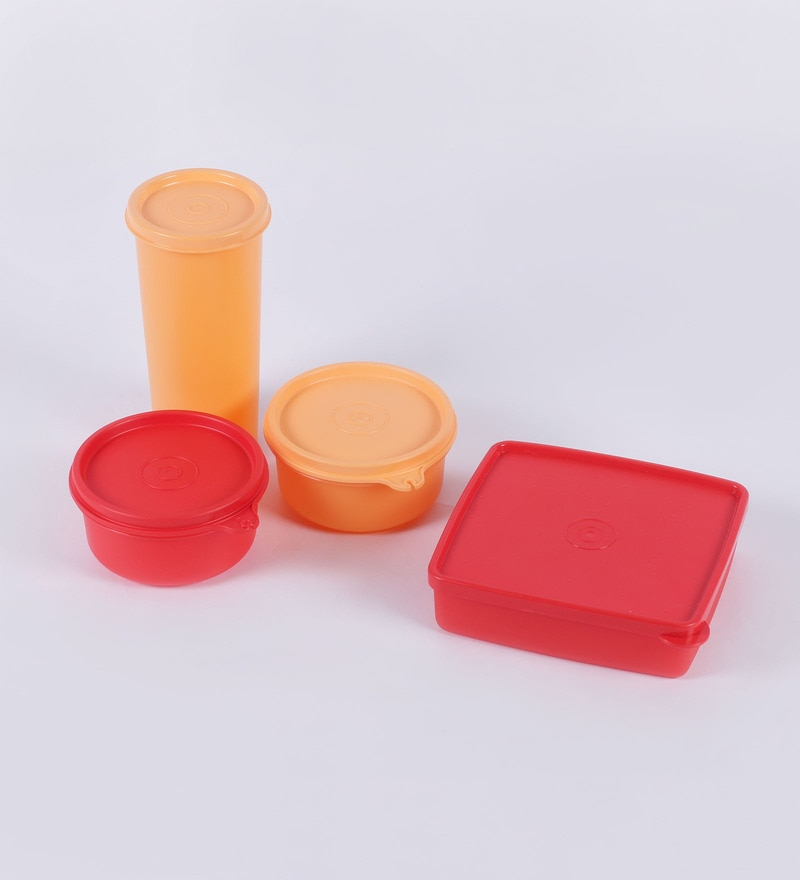 Buy Tupperware Red Best Lunch Box With Insulated Bag Set