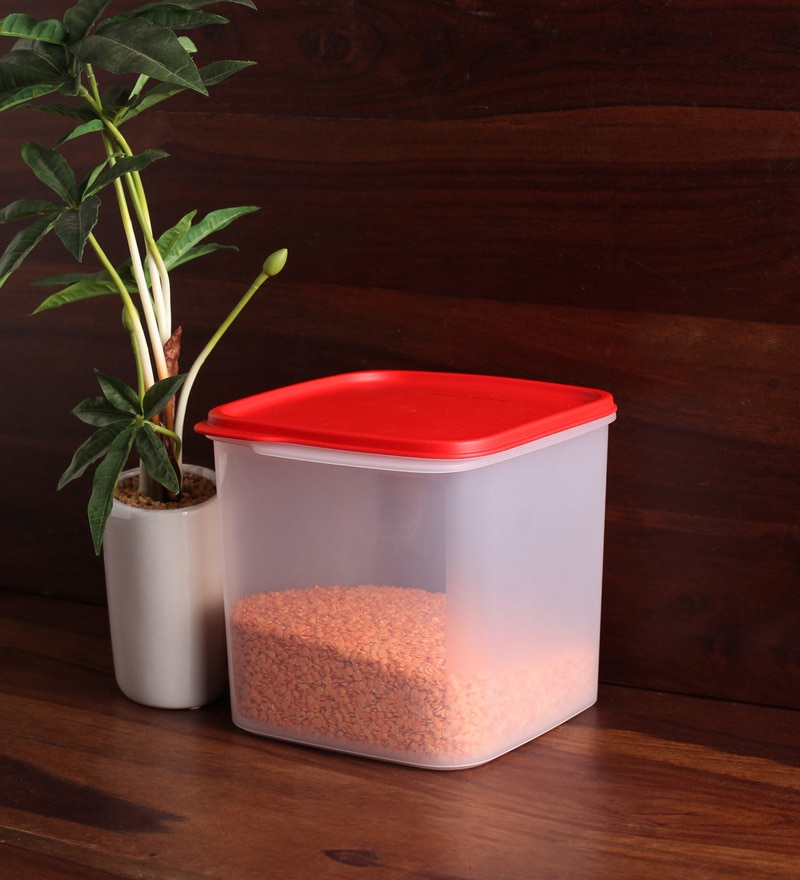 Tupperware Red Round 3.9 L Airtight Smart Storer
