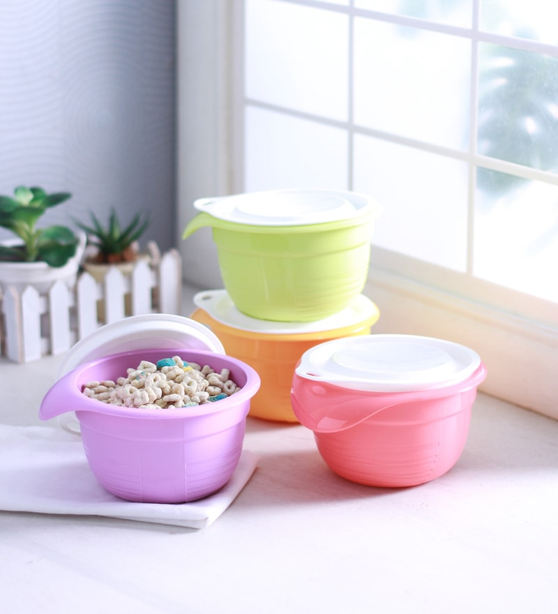 Tupperware Round 650 ML (Each) Versa Bowl Shaped Airtight container - Set of 4
