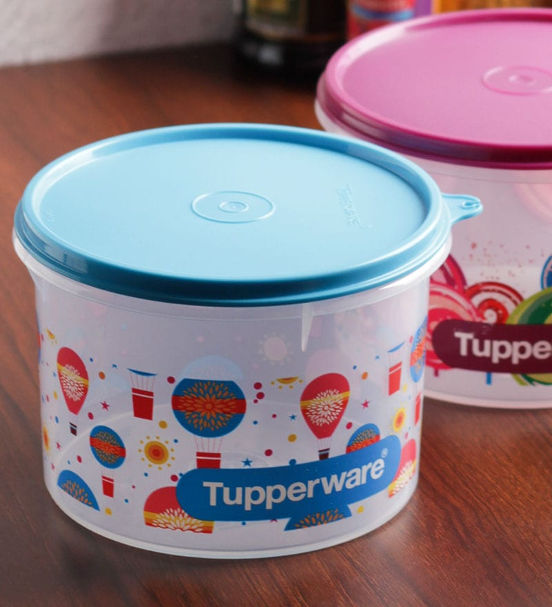 Tupperware Kitchen Storage: Buy Tupperware Store All Printed Airtight Canister Medium
