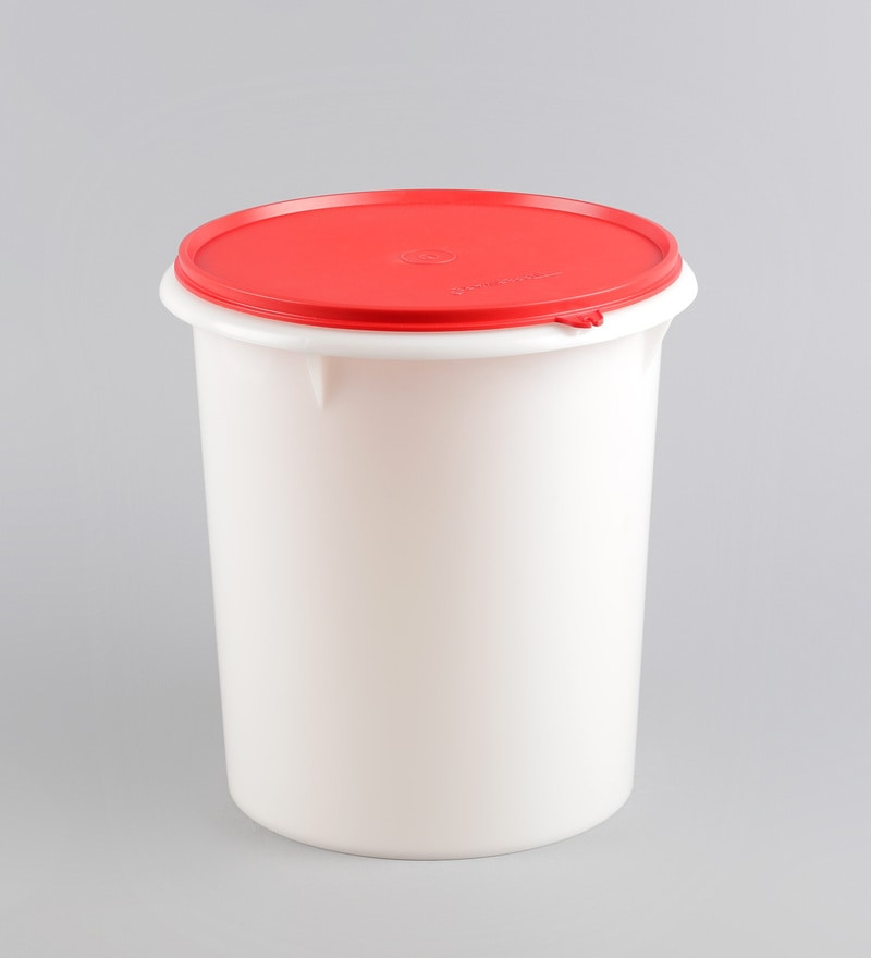 Buy Tupperware White Amp Red Cylindrical 8750 Ml Giant