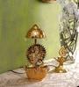 Tu Casa Gold Durga Maa Diya with Rotating Umbrella
