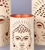 Tu Casa Off-white LED Buddha Candle Holder - Set of 3